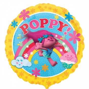 Ballon rond Poppy Trolls en aluminium