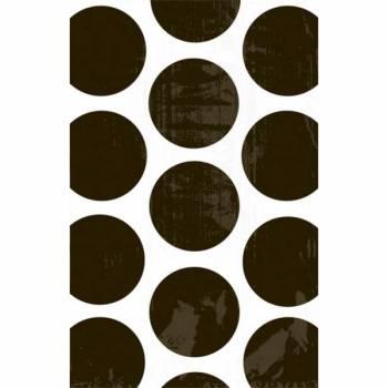 10 sacs en papier pois noirs