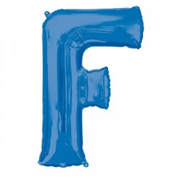Mega Ballon Hélium lettre F bleu