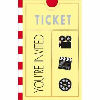8 cartes avec enveloppes thème cinéma