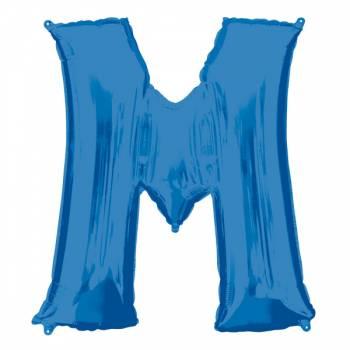 Mega Ballon Hélium lettre M bleu