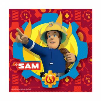 Lot 20 Serviettes Sam le Pompier Fire