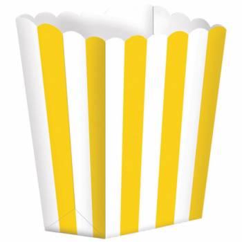 5 Boîtes Pop corn rayure jaune