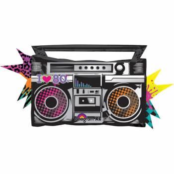 Ballon géant radio cassettes 80's