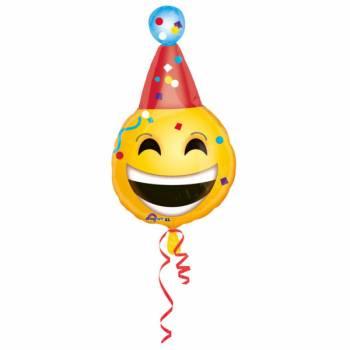 Ballon hélium émoticon anniversaire