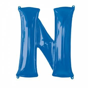 Mega Ballon Hélium lettre N bleu