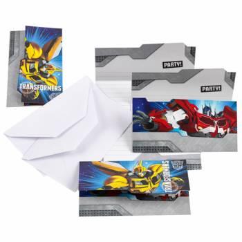 Lot 6 Invitations & Enveloppes Transformers