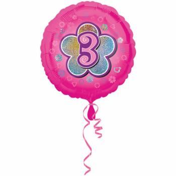 Ballon rose 3 ans