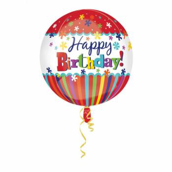 Ballon bulle happy birthday