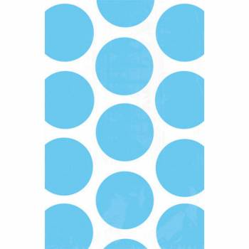 10 sacs en papier pois bleus
