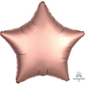 Ballon hélium satin luxe gold rose étoile