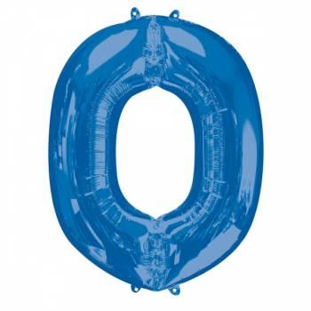 Mega Ballon Hélium lettre O bleu