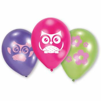 6 ballons Chouette