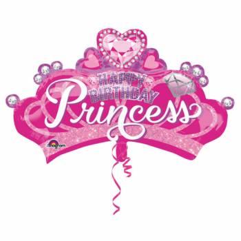 Ballon hélium géant Couronne Princesse