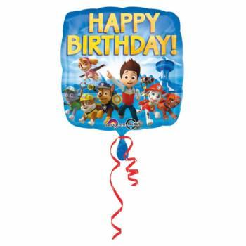 Ballon format Carré Happy Birthday Pat Patrouille