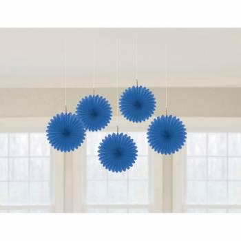 5 décors à suspendres éventail bleue