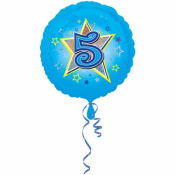 Ballon bleu 5 ans