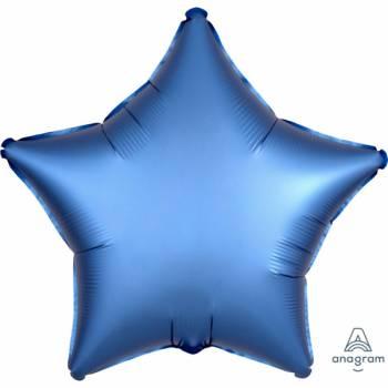 Ballon hélium satin luxe bleu étoile