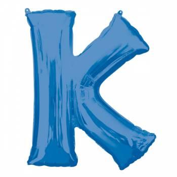 Mega Ballon Hélium lettre K bleu