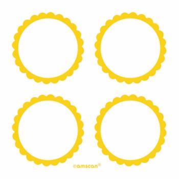 20 étiquettes jaunes