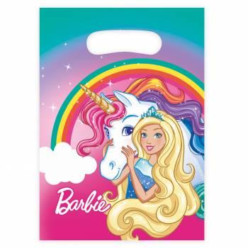 8 Sachets de fête Barbie licorne
