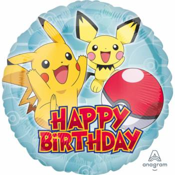Ballon hélium Pokemon Happy birthday