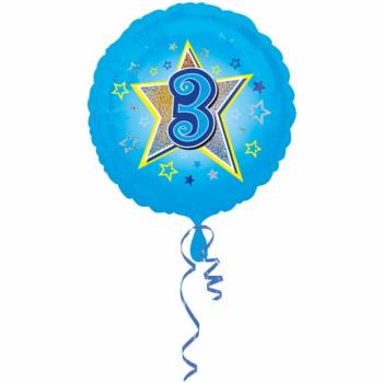 Ballon bleu 3 ans