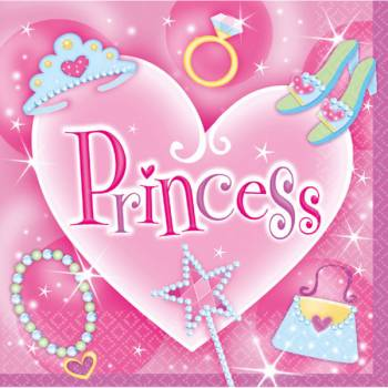 Serviettes Princesse Girly