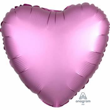 Ballon hélium satin luxe flamingo coeur