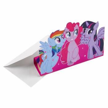 8 Invitations anniversaire My little pony