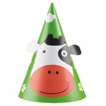 8 chapeaux de fête animaux de La Ferme