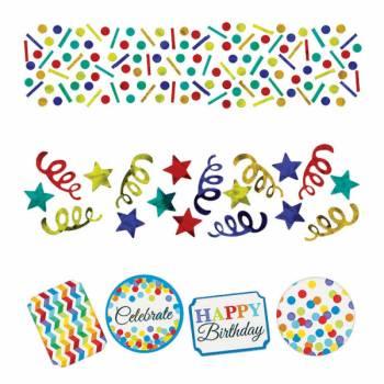 Confettis de table Happy Birthday Color flash