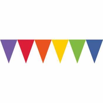 Guirlande papier fanions multicolore
