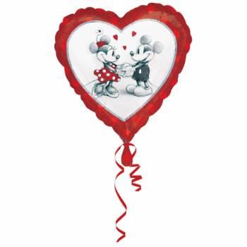 Ballon hélium Coeur Mickey Minnie