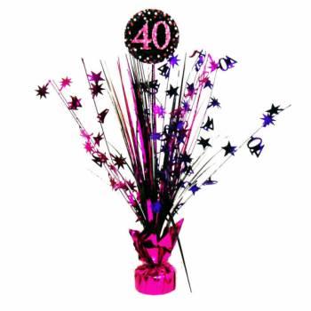 Centre de table pétillant pink 40ans