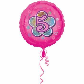 Ballon rose 5 ans
