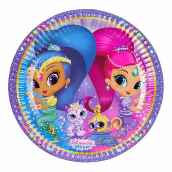8 Assiettes Shimmer and shine