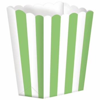 5 Boîtes Pop corn rayures vertes