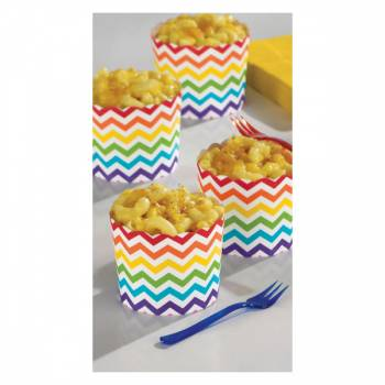 24 Mini cup snack chevrons multicolore