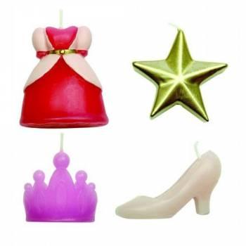 4 Bougies thème Princesse
