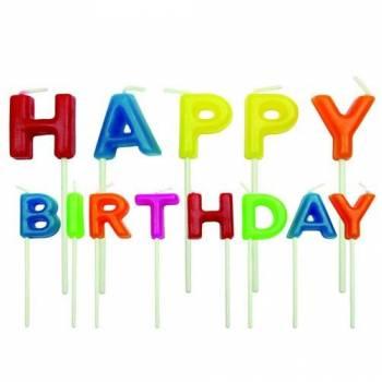 13 Bougies pics Happy Birthday multicolore