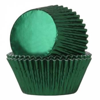 24 Caissettes cupcakes métal verte