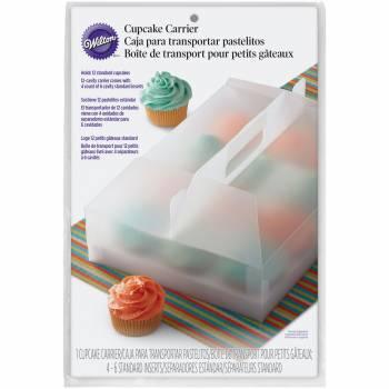 Boîte 12 cupcakes translucide Wilton