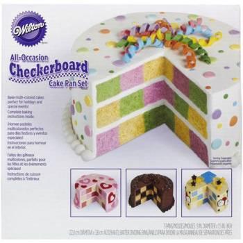 Moule gâteau WILTON Damier