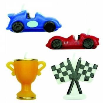 4 Bougies thème Racing Cars