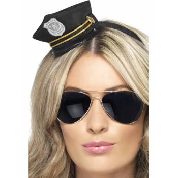 Serre tête casquette policière
