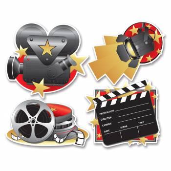 4 décors Cinéma en carton