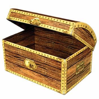 Coffre à trésor cartonné à garnir Pirate