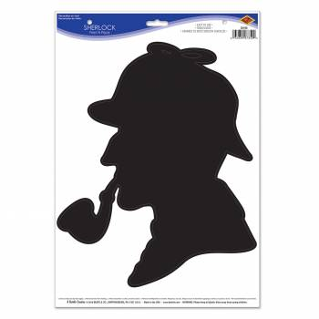 Slhouette profil Sherlock Holmes autocollante