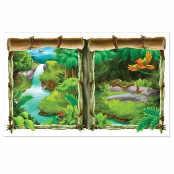 Décor mural Fenêtre Jungle plastifié